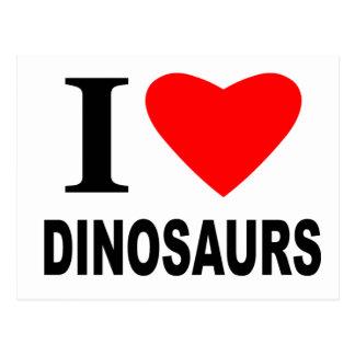 I Love Dinosaurs Postcard