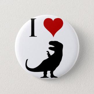 I Love Dinosaurs - T-Rex 6 Cm Round Badge