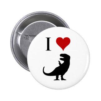 I Love Dinosaurs - T-Rex Pinback Button