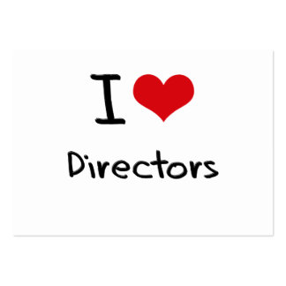 I love Directors Pack Of Chubby Business Cards