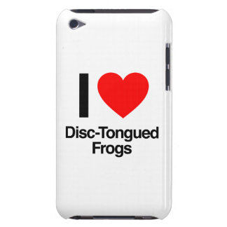 i love disc-tongued frogs barely there iPod cases