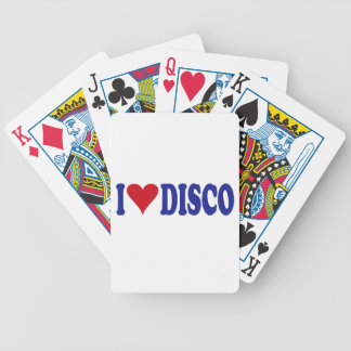 I Love Disco Bicycle Playing Cards