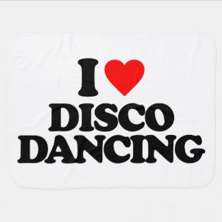 I LOVE DISCO DANCING RECEIVING BLANKETS