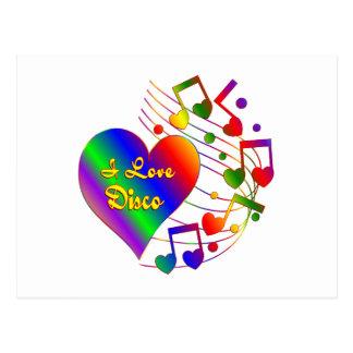 I Love Disco Postcard