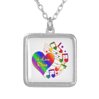 I Love Disco Silver Plated Necklace