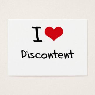 I Love Discontent Business Card