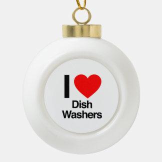 i love dish washers ornament