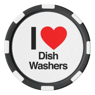 i love dish washers poker chips