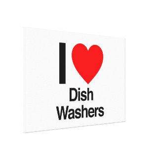 i love dish washers stretched canvas prints