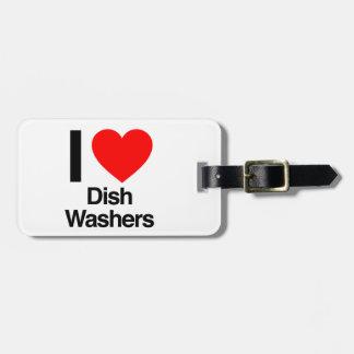 i love dish washers travel bag tags