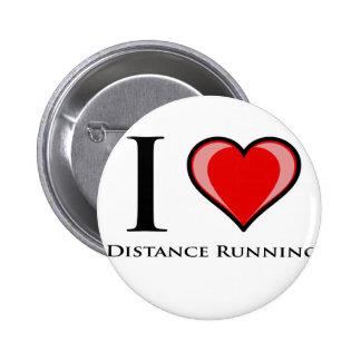 I Love Distance Running Pinback Button