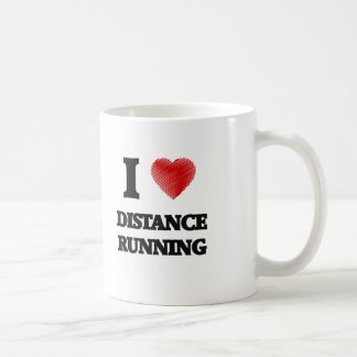 I love Distance Running Basic White Mug