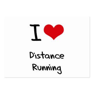 I Love Distance Running Business Card Template