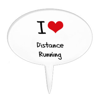 I Love Distance Running Cake Toppers