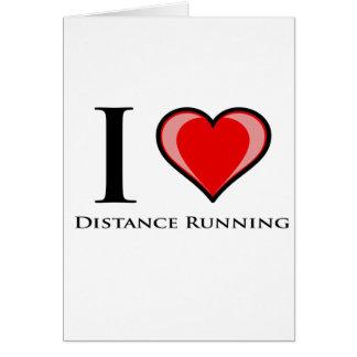I Love Distance Running Card