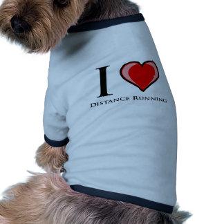 I Love Distance Running Dog Tee