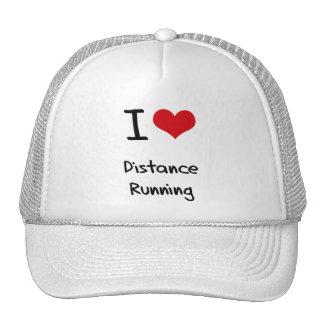 I Love Distance Running Hats