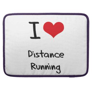 I Love Distance Running MacBook Pro Sleeves