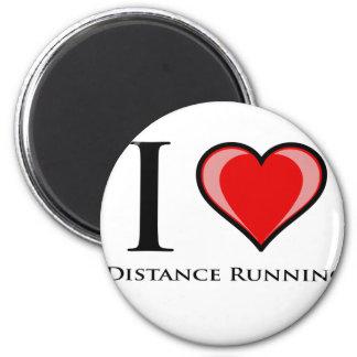 I Love Distance Running Refrigerator Magnet