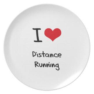 I Love Distance Running Plate