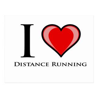 I Love Distance Running Post Card