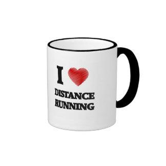 I love Distance Running Ringer Mug