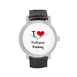 I Love Distance Running Wristwatch