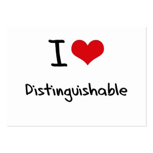 I Love Distinguishable Business Card Template