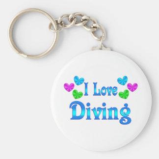 I Love Diving Key Ring