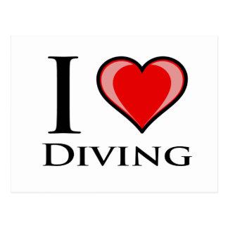 I Love Diving Postcards
