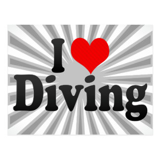 I love Diving Post Cards