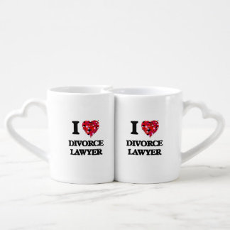 I love Divorce Lawyer Lovers Mug Sets