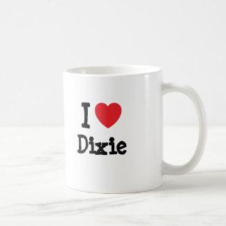 I love Dixie heart T-Shirt Coffee Mugs