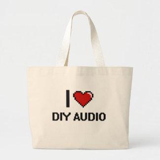 I Love Diy Audio Digital Retro Design Jumbo Tote Bag