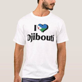 I Love Djibouti Flag T-Shirt