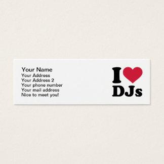 I love DJs Mini Business Card