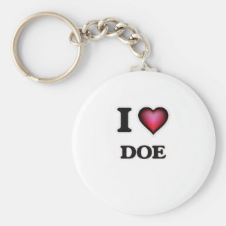 I love Doe Key Ring