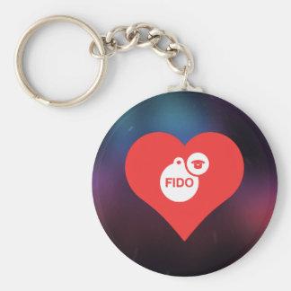 I Love Dog Names Design Basic Round Button Key Ring