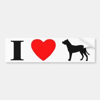 I Love Dogo Argentinos Bumper Sticker