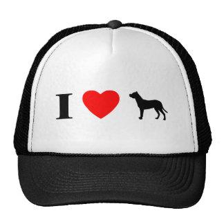 I Love Dogo Argentinos Hat