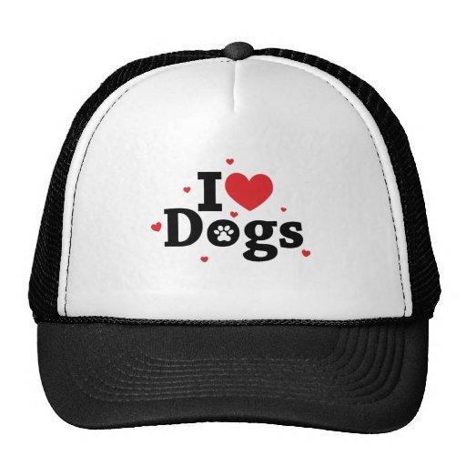 I love dogs Adoro cachorros Mesh Hat