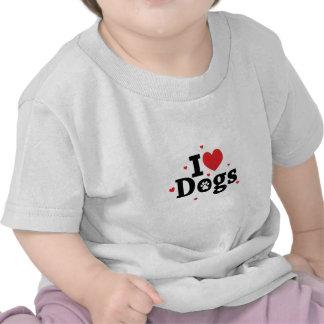 I love dogs Adoro cachorros Tshirts