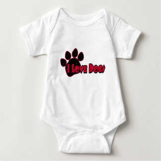 I Love Dogs Baby Clothes Baby Bodysuit