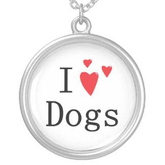 I Love Dogs Pendant