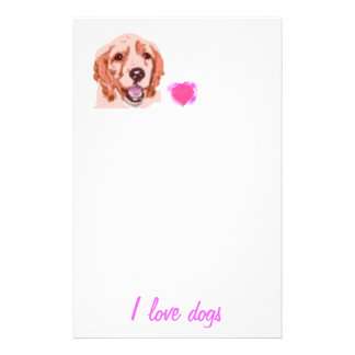 I love dogs personalised stationery