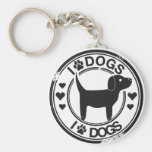 I love dogs with puppy key chain