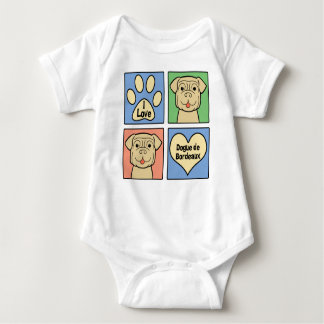 I Love Dogue de Bordeaux Baby Bodysuit