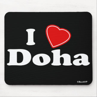 I Love Doha Mouse Pad