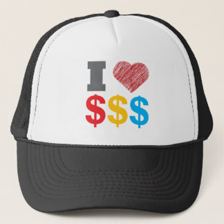 I Love Dollars Hat