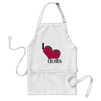 I Love Dolls Apron
